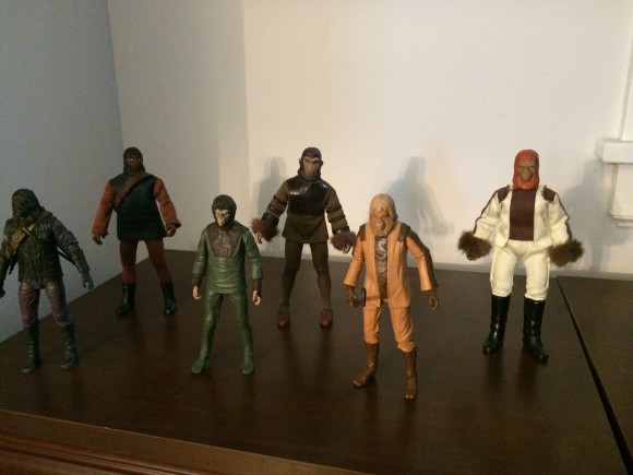 The NECA figures GO APE with their Mego ancestors!