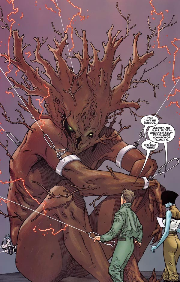 page from Annihilation: Conquest—Starlord #1 (2007), script by Keith Giffen, art by Timothy Green II and Victor Olazaba