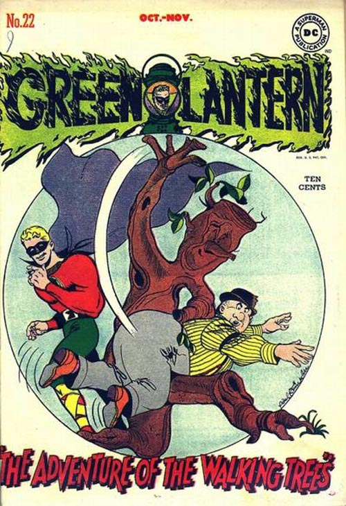 cover of Green Lantern #22 (1946), art by Paul Reinman