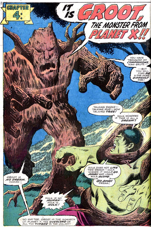 panel from The Incredible Hulk Annual #5 (1976), script by Chris Claremont and Len Wein, art by Sal Buscema and Jack Abel