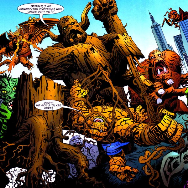 panel portion from Marvel Monsters: Monsters on the Prowl one-shot (2005), script by Steve Niles, art by Duncan Fegredo