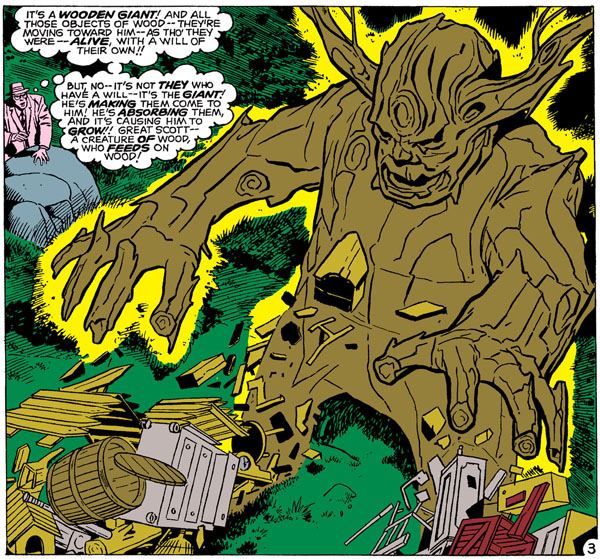 panel from Tales to Astonish #13, script by Larry Lieber (?), art by Jack Kirby and Dick Ayers