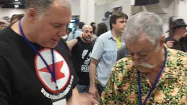 Owl Girls co-creator Dave Ryan with MAD Magazine's Sergio Aragones