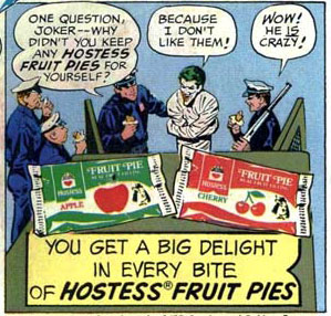 "Panel from Hostess ad ""The Cornered Clown"" in Batman #282 (1976), art by Curt Swan and Vince Colletta"