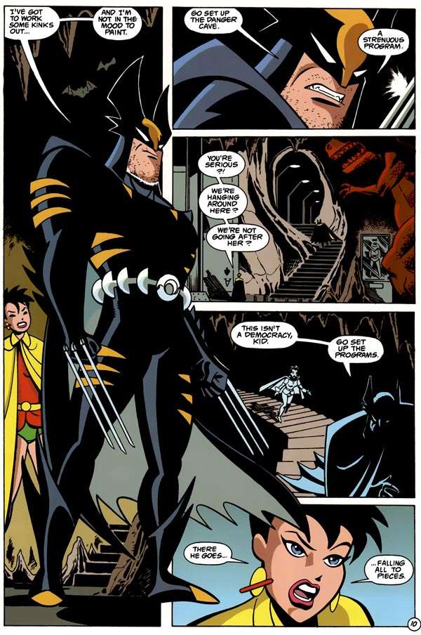 Panels from Dark Claw Adventures #1 (1997), script by Ty Templeton, art by Ty Templeton and Rick Burchett