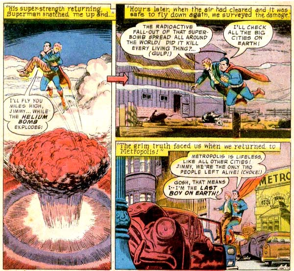 Panels from Jimmy Olsen #29 (1958), script by Otto Binder, art by Curt Swan and Ray Burnley