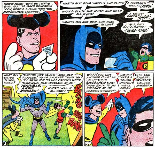 Panels from The Adventures of Jerry Lewis #97 (1966), script by Arnold Drake, art by Bob Oksner