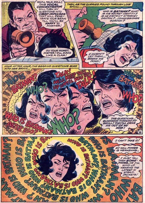 Panels from Lois Lane #89 (1969), script by Leo Dorfman, art by Curt Swan and Mike Esposito
