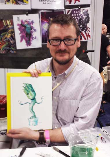 Mike McKone was busy all day.