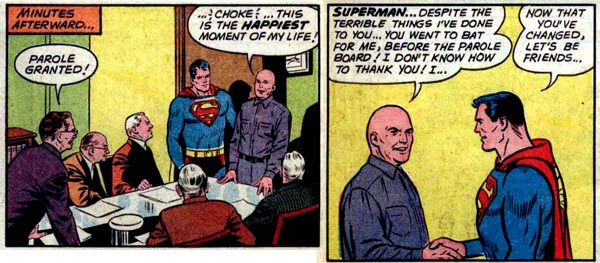 Panels from Superman #149 (1961), script by Jerry Siegel, art by Curt Swan and Sheldon Moldoff