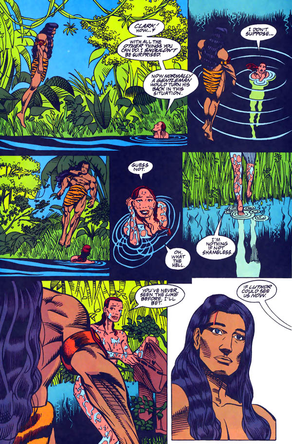 Panels from Superman Annual #6 (1994), script by Darren Vincenzo, art by Frank Fosco and Stan Woch