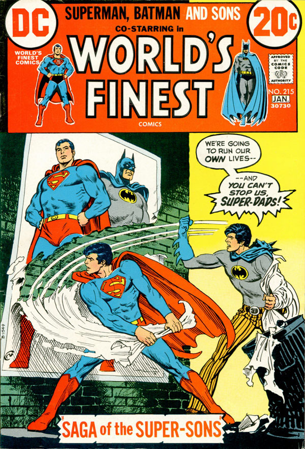 Cover of World's Finest Comics #215 (1972), art by Nick Cardy