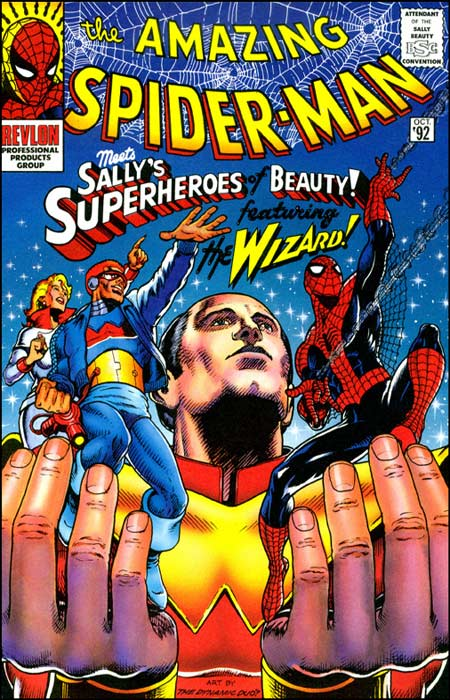 cover of The Amazing Spider-Man Meets Sally's Superheroes one-shot (1992), art by Arlen Schumer
