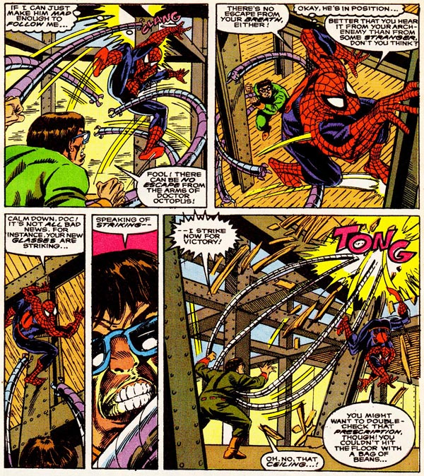 from The Amazing Spider-Man NACME Series #1 (1990), script by Dwayne McDuffie, art by Alex Saviuk and Chris Ivy