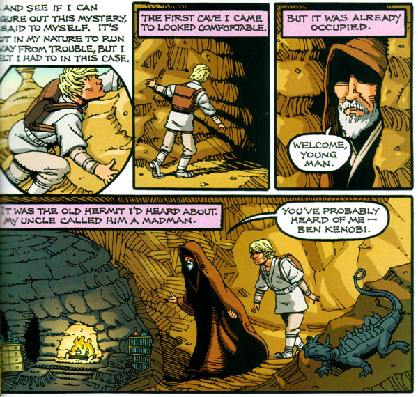 "from ""Luke Skywalker: Detective"" in Star Wars Tales #20 (2004), script and art by Rick Geary"