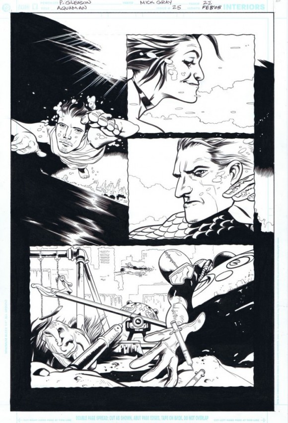 Collaborating with Patrick Gleason -- on Aquaman almost 10 years ago!