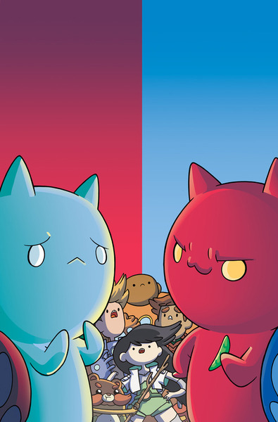 Catbug vs. Bugcat in the upcoming Bravest Warriors #25!