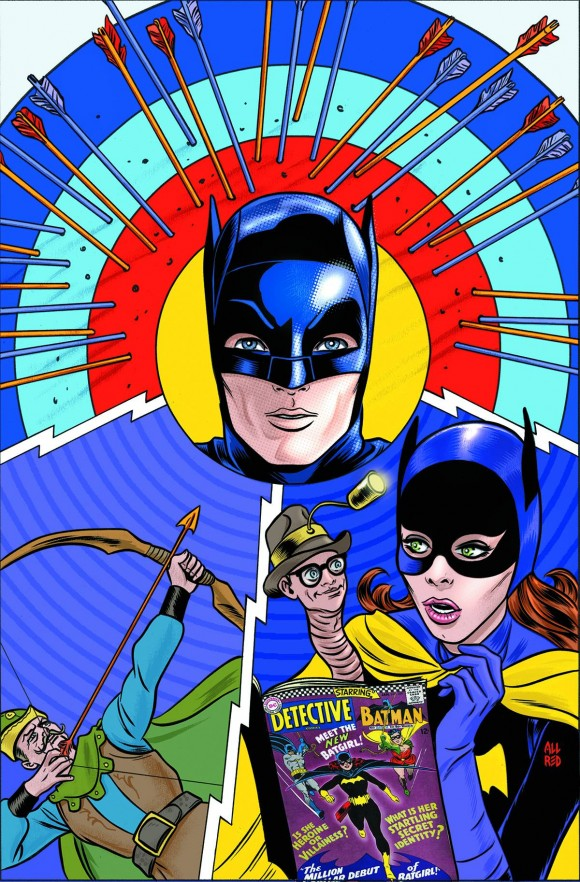The Mike Allred cover to Batman '66 #18 -- the print edition due in December.
