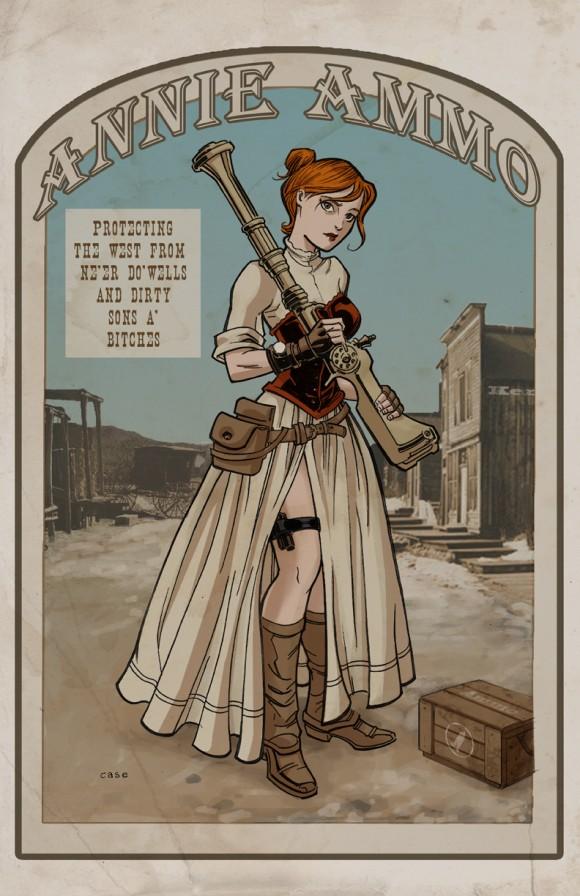 Steampunk Annie, which is feckin awesome!