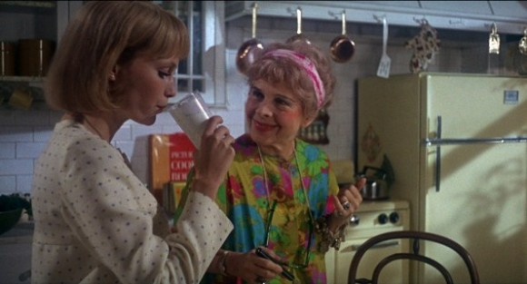Mia Farrow and Ruth Gordon