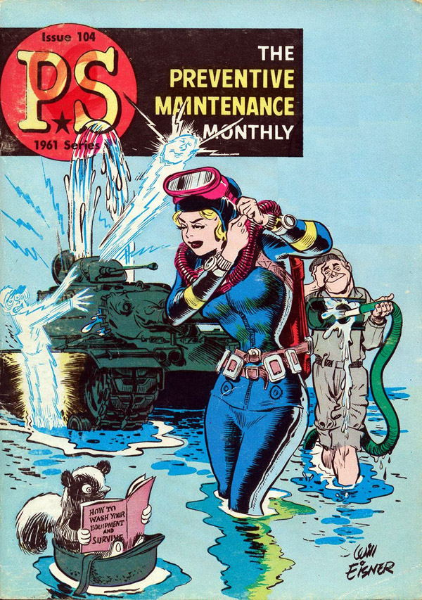 Cover of PS, The Preventative Maintenance Monthly #104 (1961), art by Will Eisner