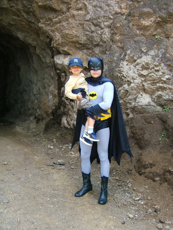 Outside the Batcave!