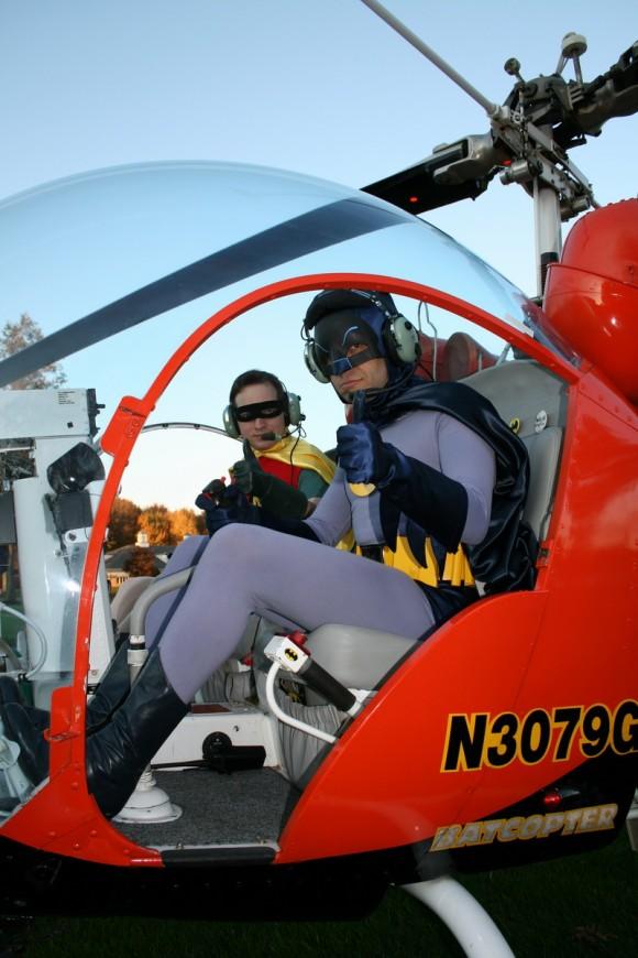 In Gene Nock's real Batcopter!