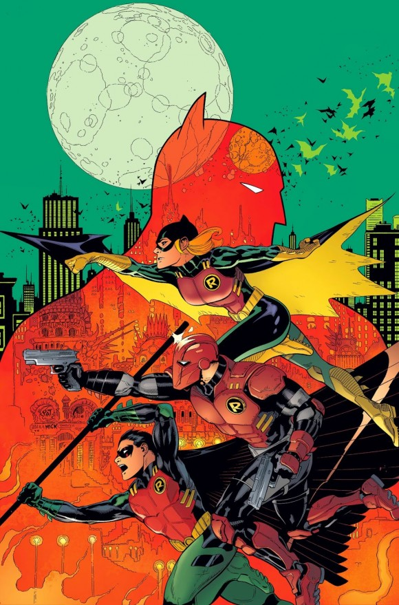 Nope, there's no Damian on this unlettered cover to #36. But it ROCKS. And it's out 11/19.