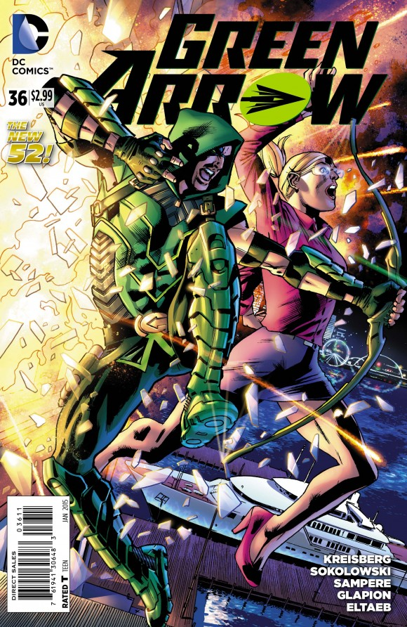 Green Arrow #36, the first full New 52 Felicity issue.