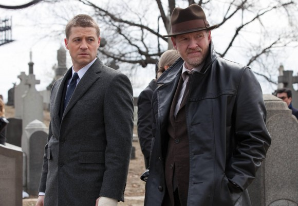 McKenzie as Gordon and Donal Logue as Harvey Bullock
