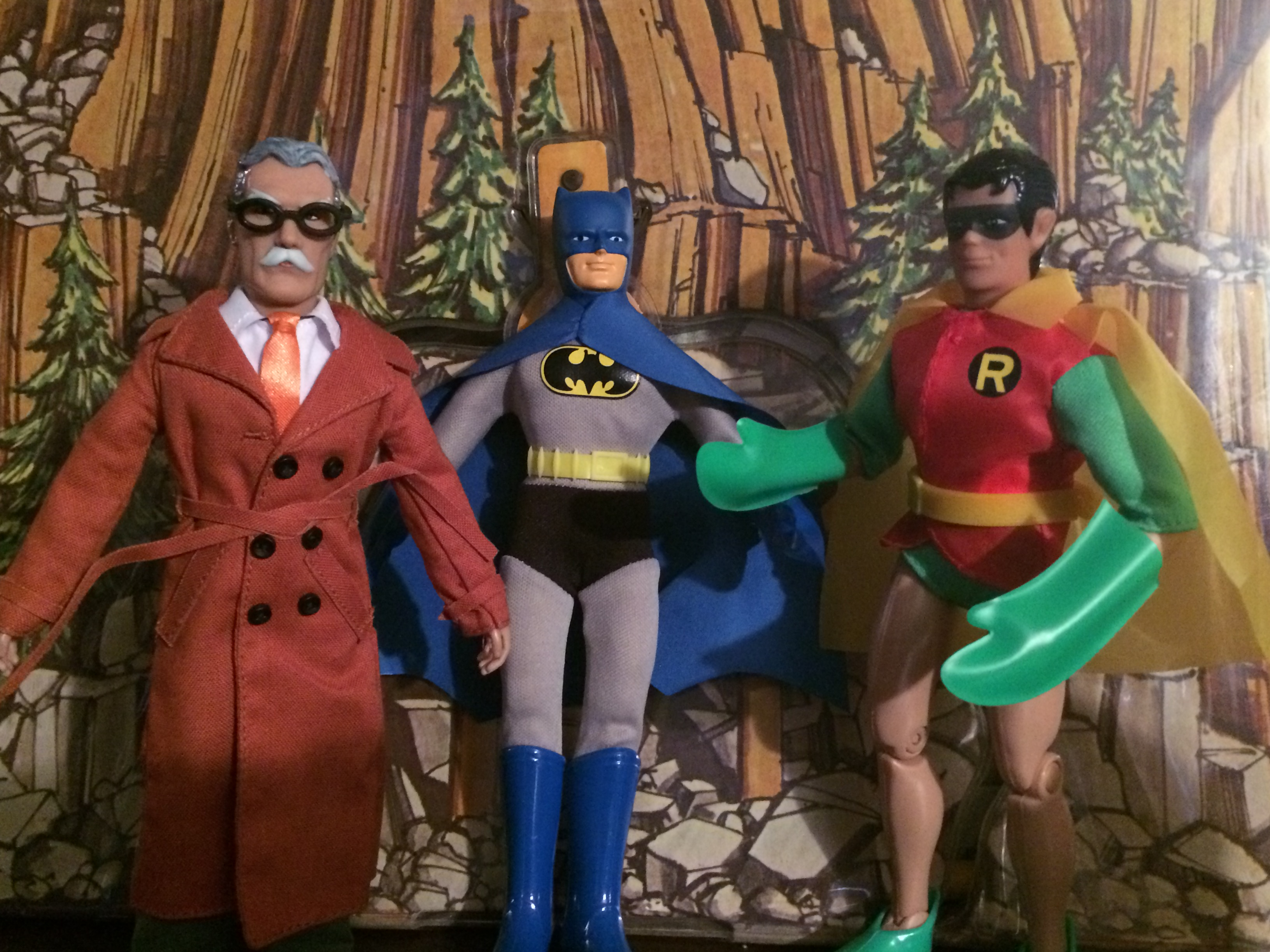 Gordon consults with Batman and Robin!