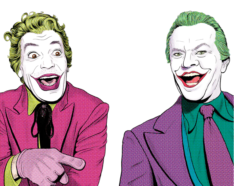 What a couple of Jokers! A superb illustration by Asbury-based Jason Robinson.