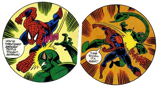 "from ""Spider-Man: The Scorpion Sanction"" (1994), script by Mark Bernardo, art by Alex Saviuk"