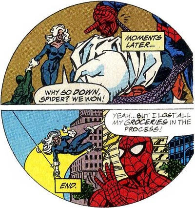 "from ""Spider-Man: The Task and the Terror"" (1994), script by Mark Bernardo, art by Craig Brasfield and Sam DeLaRosa"