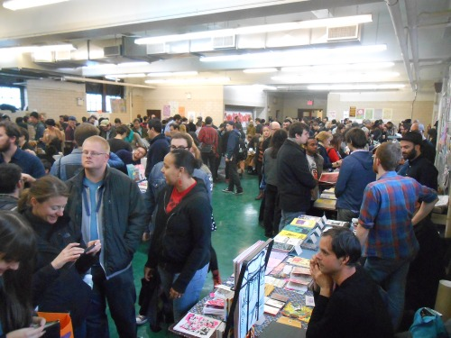 Crowd at 2013 Comic Arts Brooklyn Mount Carmel Church