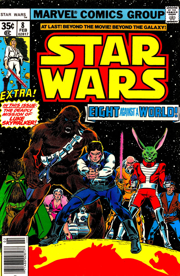 Cover of Star Wars #8 (1978), art by Gil Kane and Tony DeZuniga