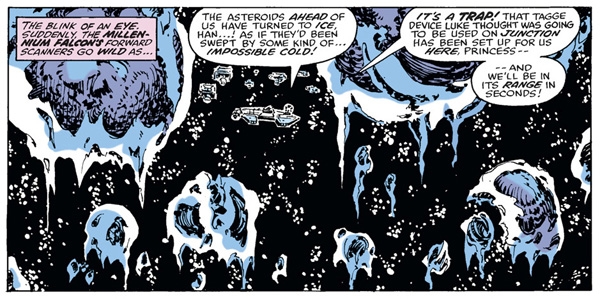 from Star Wars #34 (1980), script by Archie Goodwin, art by Carmine Infantino and Bob Wiacek