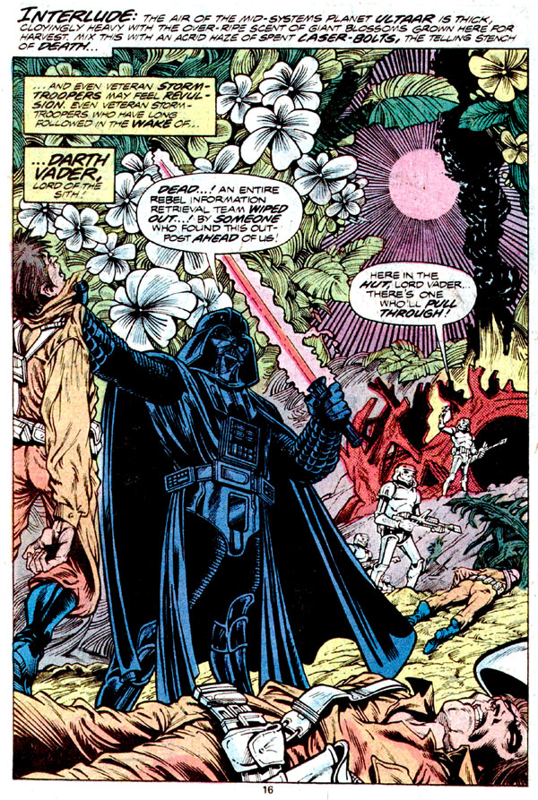 from Star Wars #21 (1979), script by Archie Goodwin, art by Carmine Infantino and Gene Day