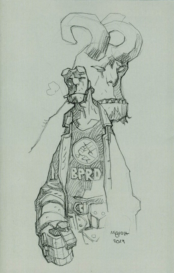 Mike Mignola sketch variant for Hellboy and the BPRD 1952 #1