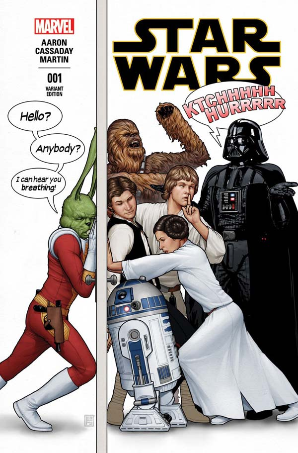 variant cover of Star Wars #1 (2015), art by John Cassaday