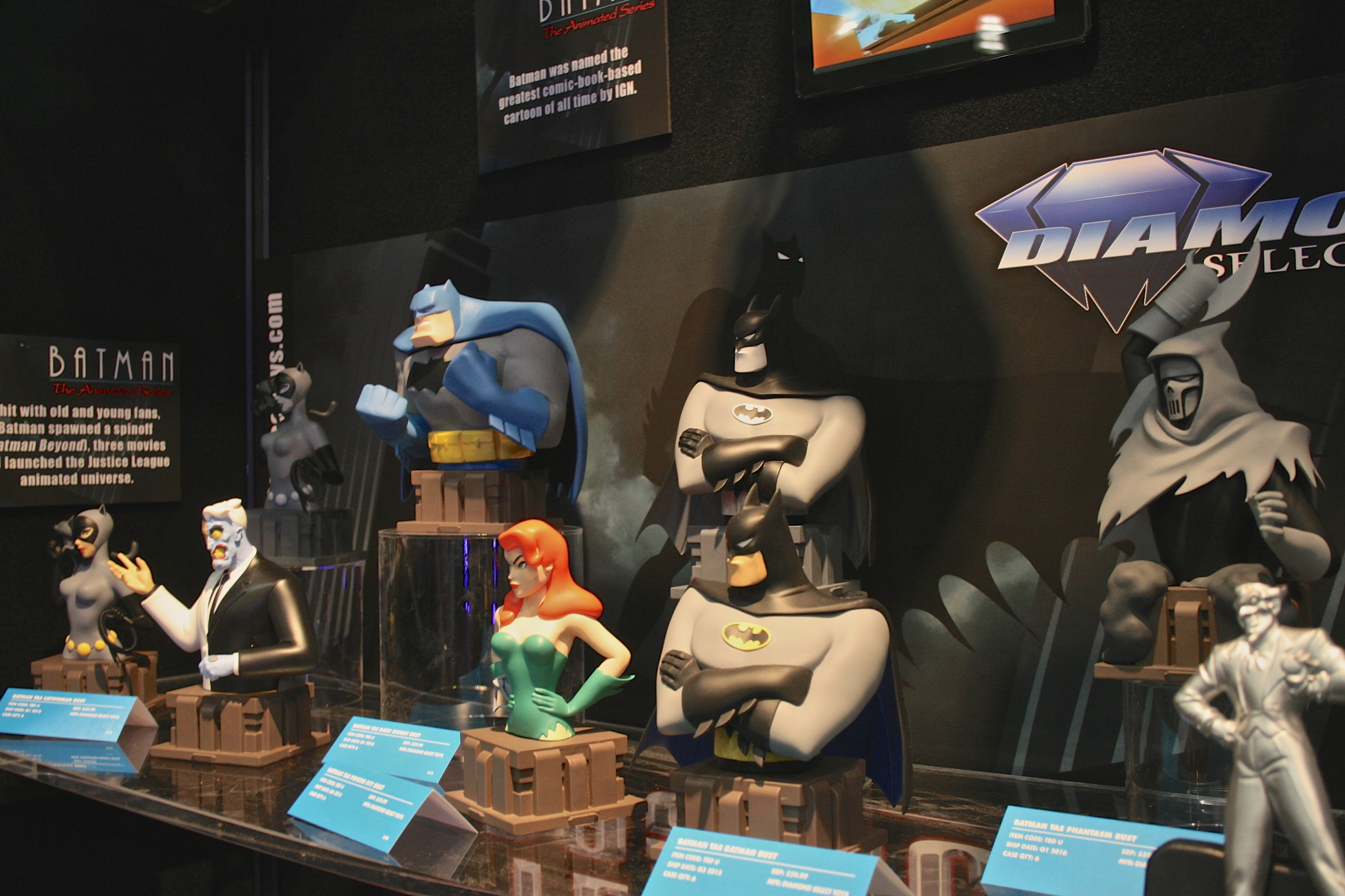Back to DC, Batman: The Animated Series gets the bust treatment!