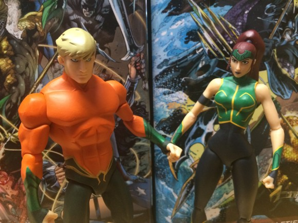 Arthur and Mera, sittin' in a coral reef ...
