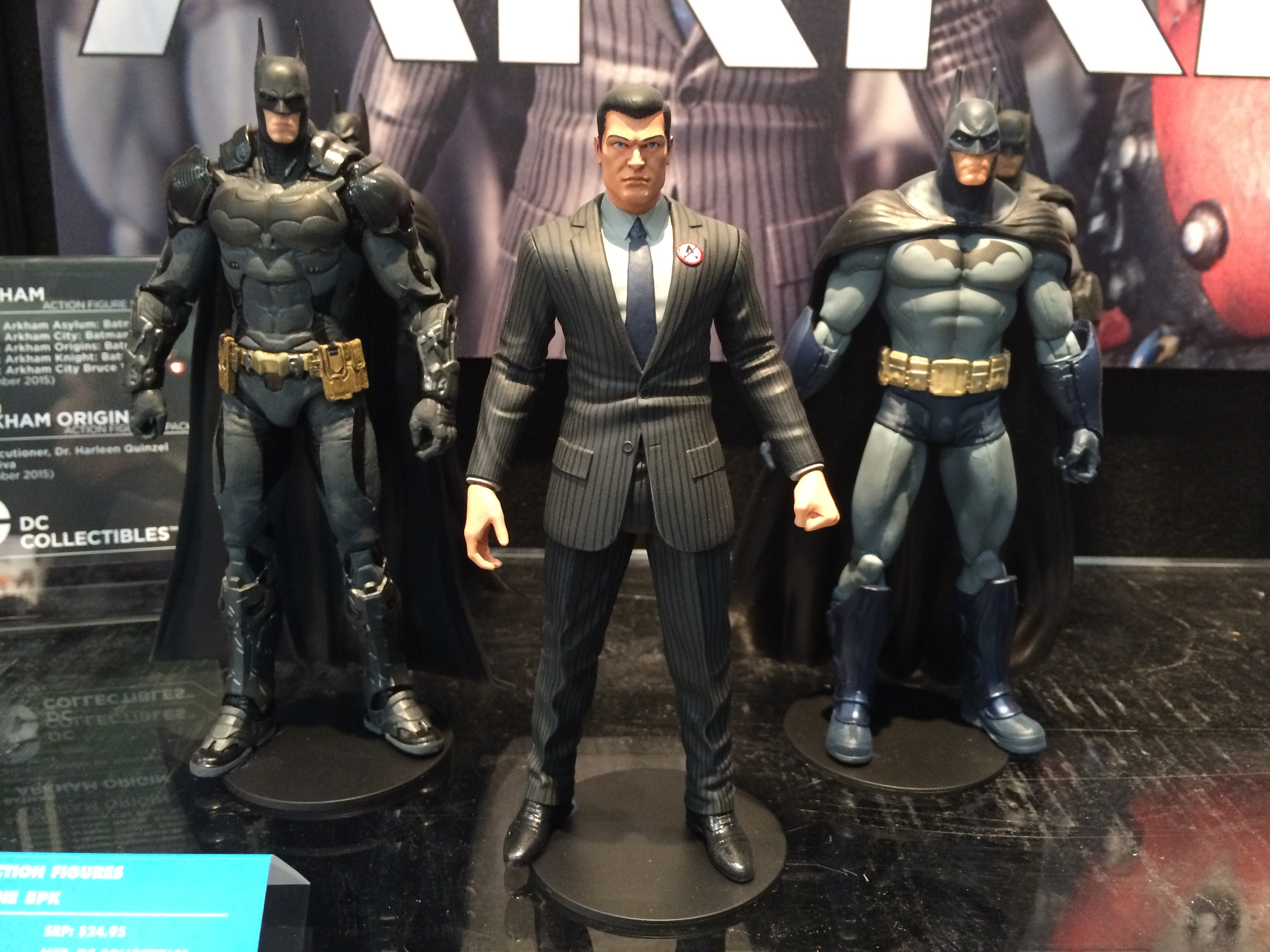 Arkham Bruce Wayne. LOVE it. So rare to get Bruce in a suit in 6-7-inch scale. This will lead an Arkham five-pack. NOT sold separately.
