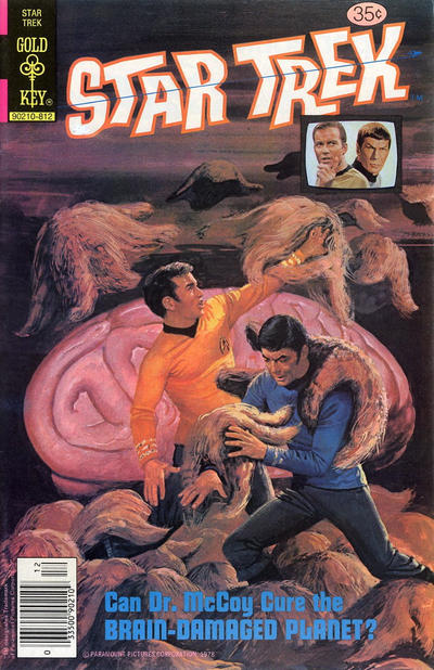 A rare Dell illustrated Kirk cover. Probably by Alden McWilliams.