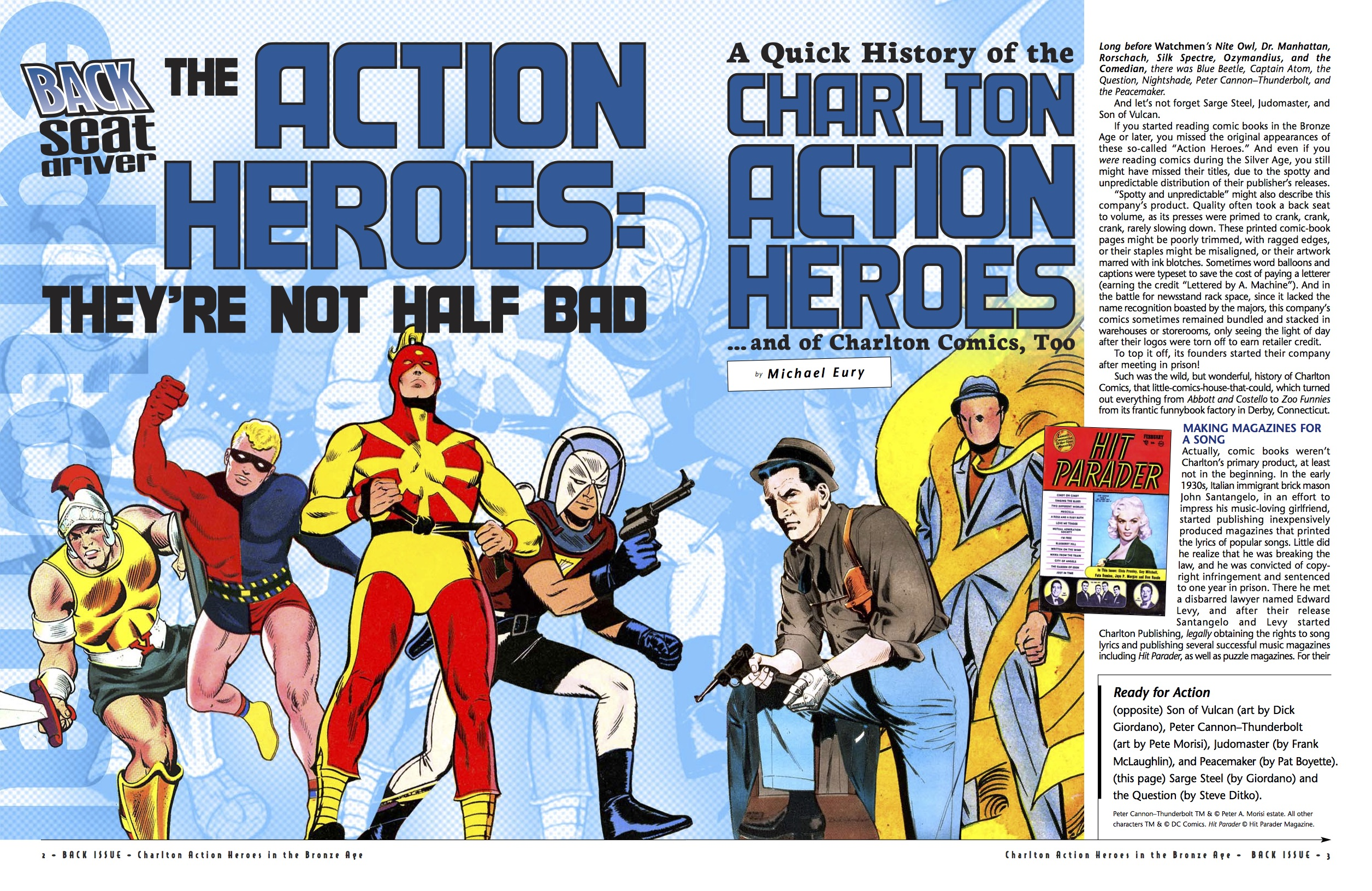 BI #79 Action Heroes spread