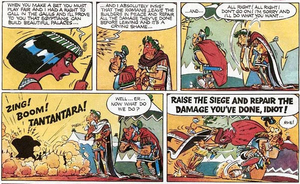 Asterix and Cleopatra (1969), script by René Goscinny, art by Albert Uderzo