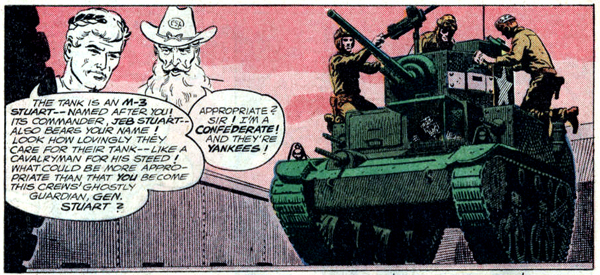 """Battle Origin of the Haunted Tank!"" in G.I. Combat #114 (1965), script by Robert Kanigher, art by Russ Heath"