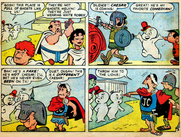 Homer the Happy Ghost #19 (1958), script by Stan Lee, art by Dan DeCarlo