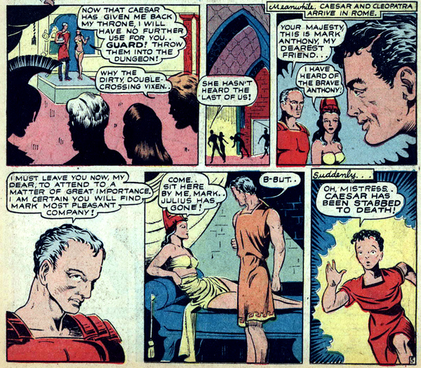 Jumbo Comics #41 (1942), script by Curt Davis, art by Lee Ames