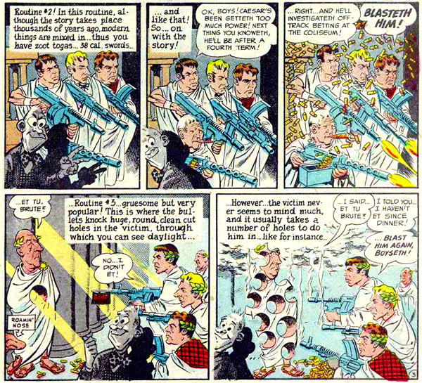 """Julius Caesar!"" in MAD #17 (1954), script by Harvey Kurtzman, art by Wallace Wood"